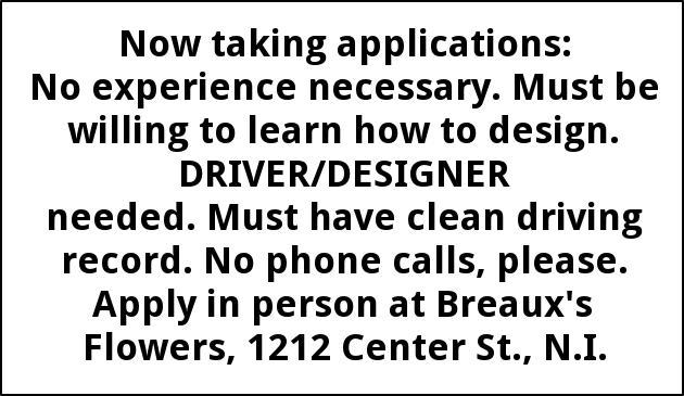 Driver/ Designer Needed