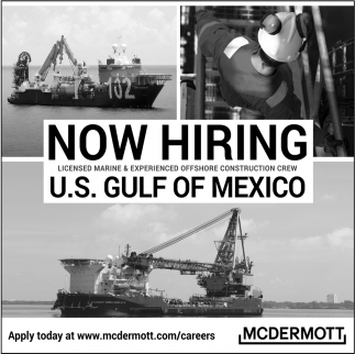 Licensed Marine & Experienced Offshore Construction Crew